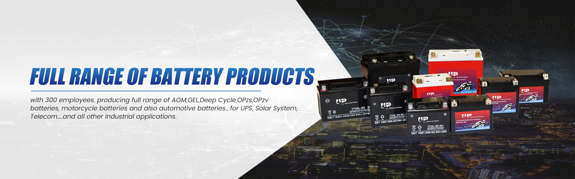 Full Range Of Battery Products Banner 0401
